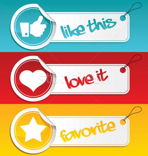 Like Love Favorite Stock photo © Mictoon