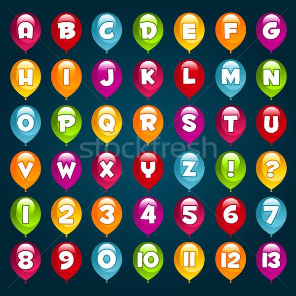 Party Alphabet Balloons. Stock photo © Mictoon