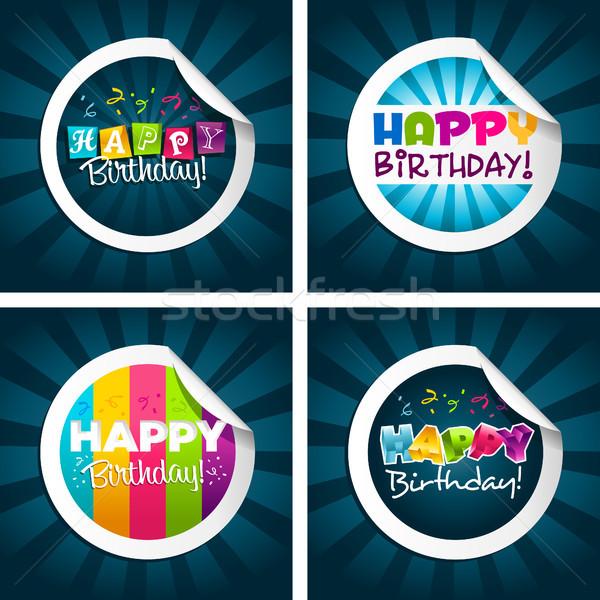 С Днем Рождения набор красочный дизайна весело Сток-фото © Mictoon