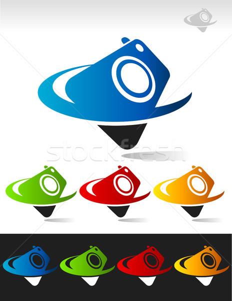 камеры иконки графических Элементы зеленый Сток-фото © Mictoon
