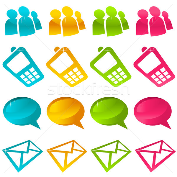 иконки телефон дизайна Сток-фото © Mictoon