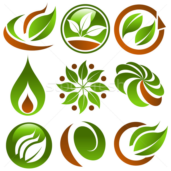 набор зеленый Эко аннотация земле Сток-фото © Mictoon