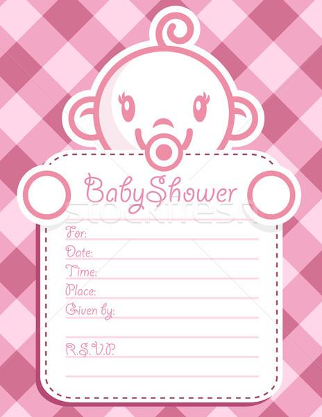 розовый приглашения ребенка душу Сток-фото © Mictoon