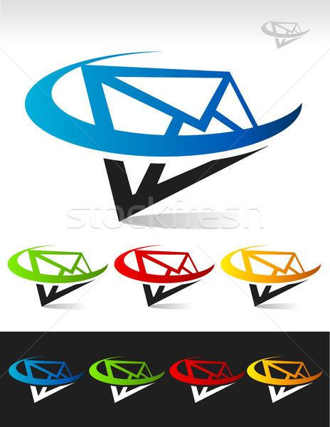 Posta ikon mektup simgeler grafik elemanları Stok fotoğraf © Mictoon