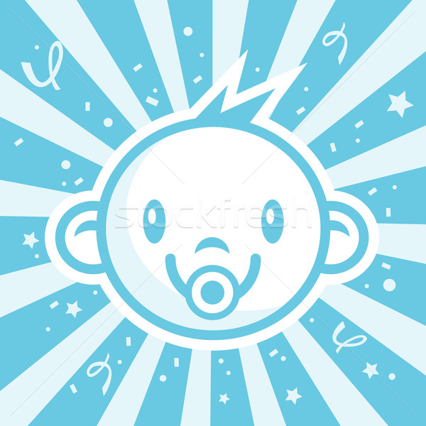 синий ребенка мальчика иллюстрация конфетти рождения Сток-фото © Mictoon