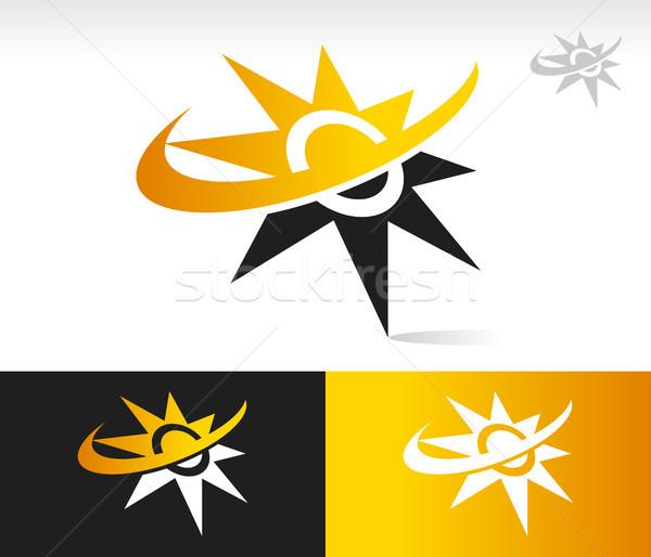 солнце иконки икона графических элемент свет Сток-фото © Mictoon