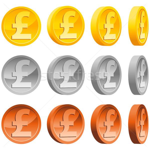 Pound Coins Stock photo © Mictoon