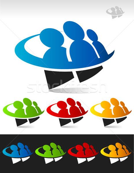 Grup insanlar insanlar simgeler grafik elemanları Stok fotoğraf © Mictoon
