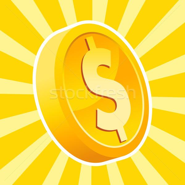 Dolar altın sikke dizayn pazar Stok fotoğraf © Mictoon