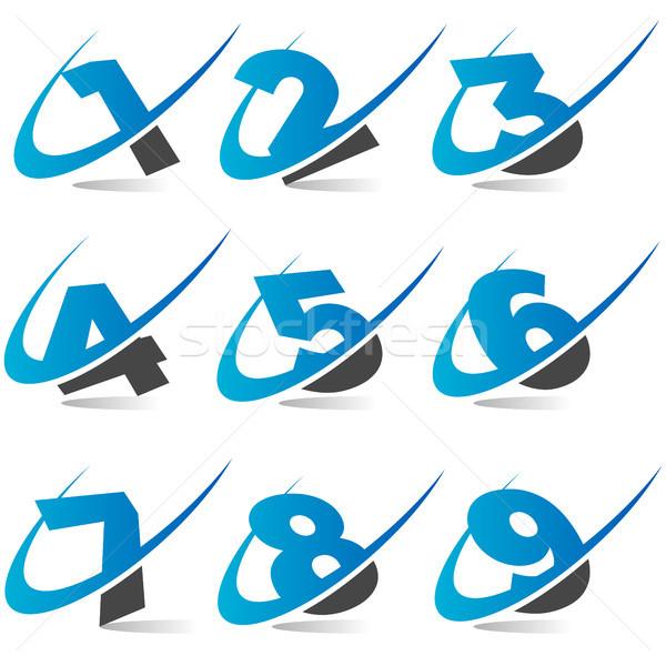 Numara simgeler sayılar grafik elemanları spor Stok fotoğraf © Mictoon