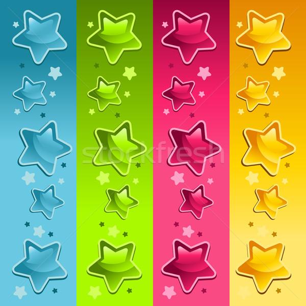 красочный звезды границе набор вечеринка Сток-фото © Mictoon
