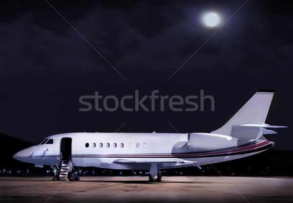 business plane Stock photo © mikdam