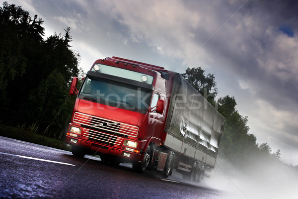 truck driving on country-road Stock photo © mikdam