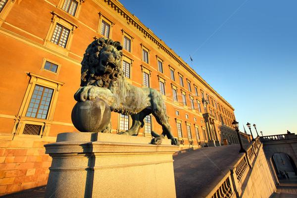 Svédország Stockholm óváros királyi palota épület Stock fotó © mikdam