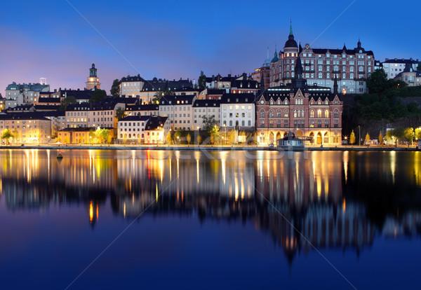 Estocolmo Suécia edifício igreja linha do horizonte europa Foto stock © mikdam
