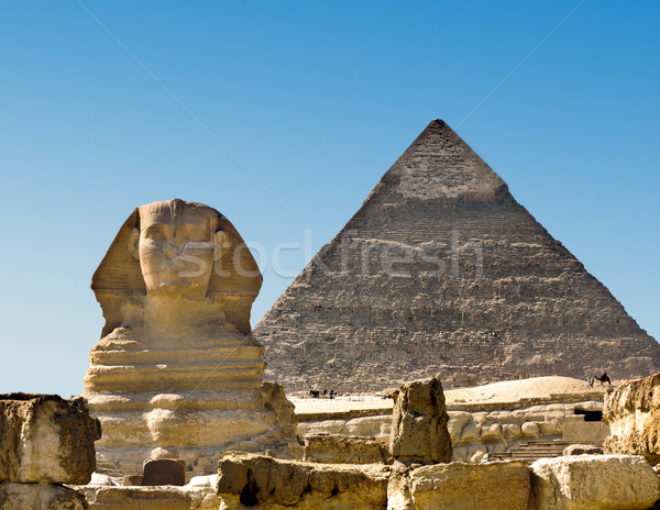 Sphinx and Pyramid Stock photo © mikdam