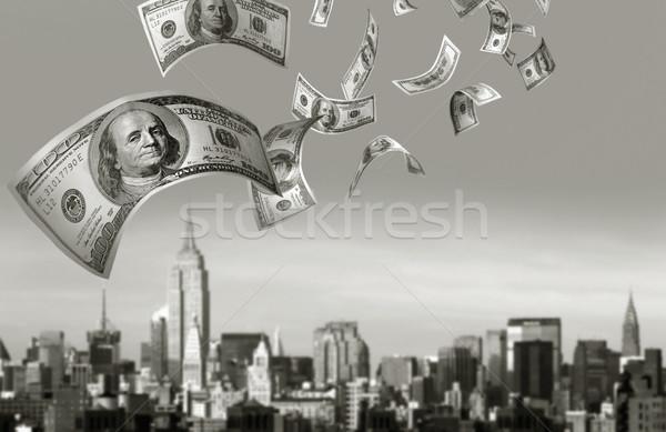 Vallen geld 100 wolk Stockfoto © mikdam