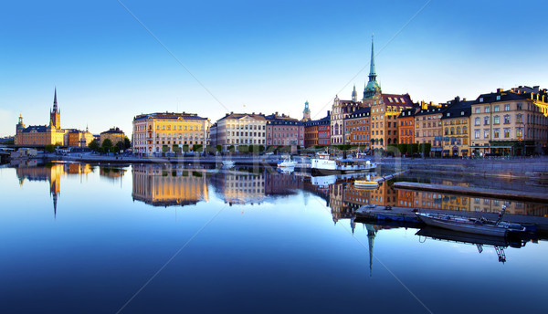 Old Town of Stockholm Stock photo © mikdam