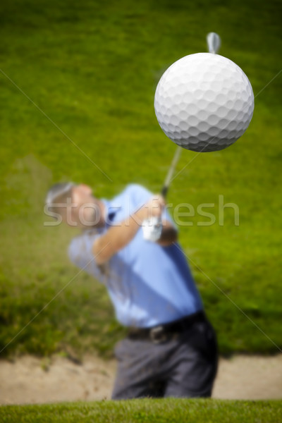 golfer shooting a golf ball Stock photo © mikdam