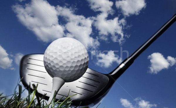 Golf club bal gras Stockfoto © mikdam