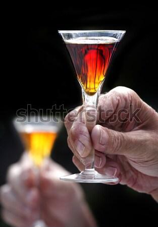 Vodka fény üveg nyár ital pihen Stock fotó © mikdam