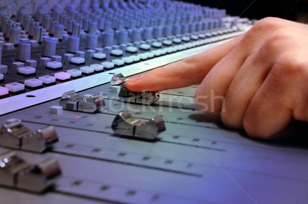Recording Studio Mixing Console Stock photo © mikdam