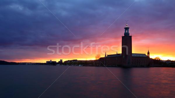 Miasta sali Sztokholm wygaśnięcia architektury wieża Zdjęcia stock © mikdam