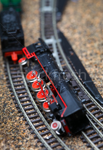Toy railroad train crash Stock photo © mikdam