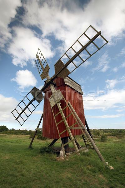 Suécia edifício viajar arquitetura férias moinho de vento Foto stock © mikdam