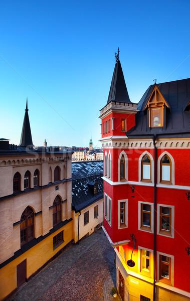 Edificios Estocolmo Suecia casa ciudad Europa Foto stock © mikdam