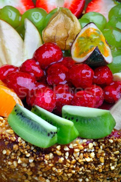 Pastel de frutas alimentos torta fresa postre Foto stock © mikdam