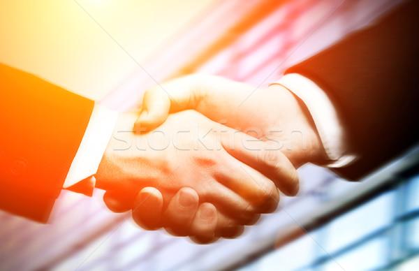 Działalności shake strony biuro ręce tle biznesmen Zdjęcia stock © mikdam