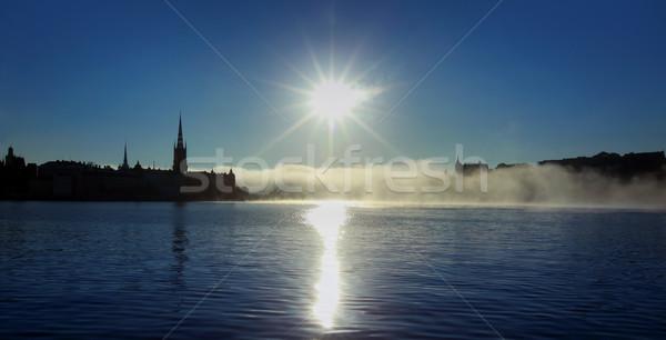 Panorama Estocolmo Suécia paisagem verão igreja Foto stock © mikdam