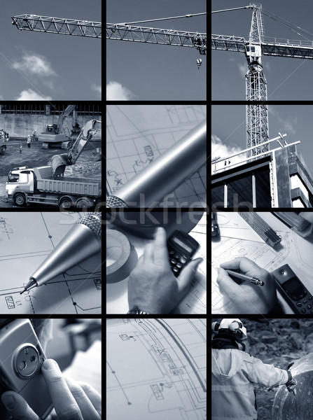 Collage of Construction ambiance Stock photo © mikdam