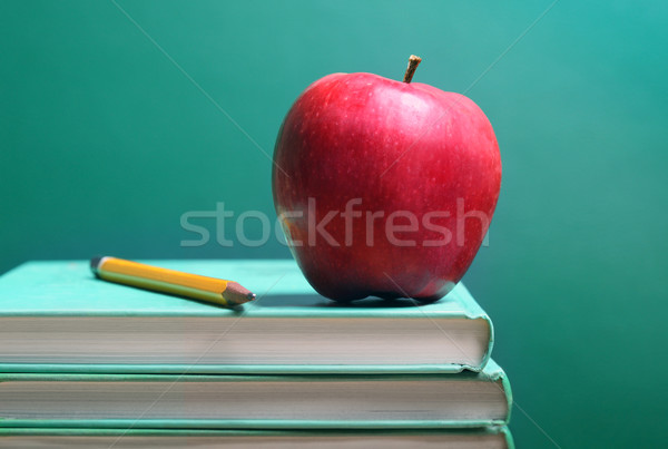 Books and apple Stock photo © mikdam