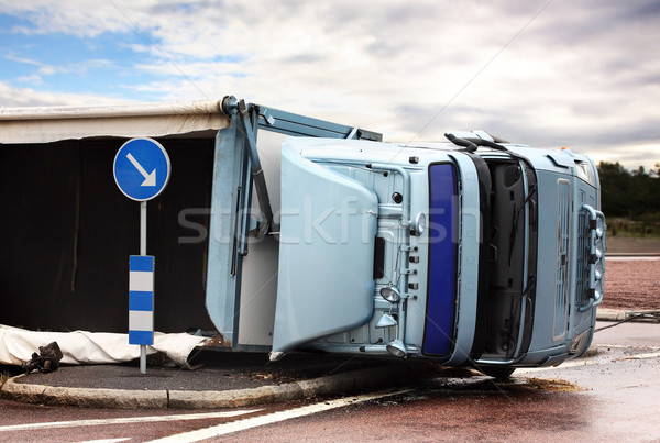 Overturned Lorry Stock photo © mikdam