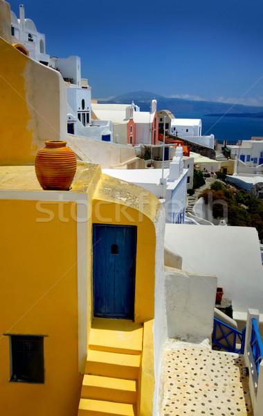 Santorini niebo budynku architektury biały Europie Zdjęcia stock © mikdam