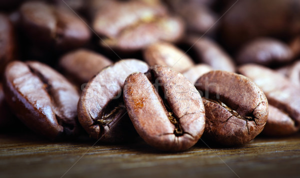 Macro tiro grão de café Foto stock © mikdam