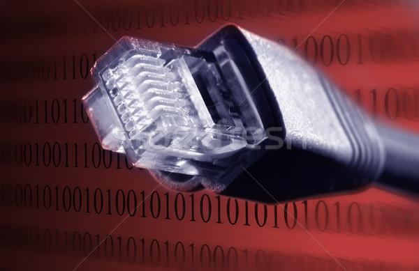 ケーブル クローズアップ 表示 技術 電話 通信 ストックフォト © mikdam
