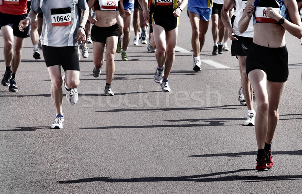 Marathon runners Stock photo © mikdam