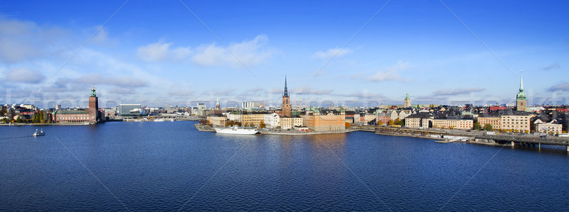 Panorama of Stockholm, Sweden Stock photo © mikdam