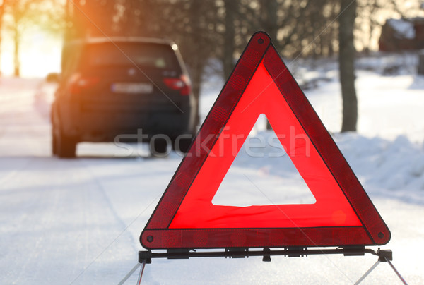 Car with a breakdown in the winter Stock photo © mikdam