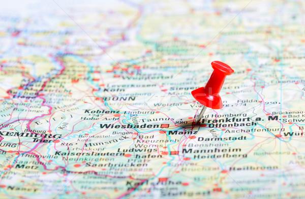 úticél térkép utazás irányítás utazás Németország Stock fotó © mikdam
