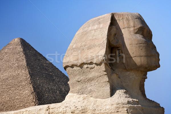 Sphinx and Pyramid Stock photo © mikdam
