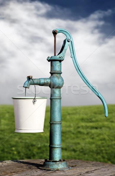 Víz pumpa nyár Stock fotó © mikdam