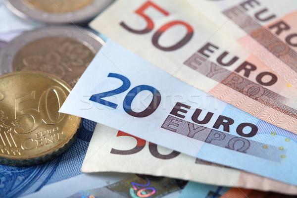 Kolorowy euro banku zauważa gospodarki Zdjęcia stock © mikdam