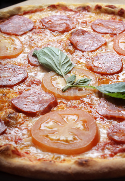 Pepperoni pizza Stock photo © mikdam