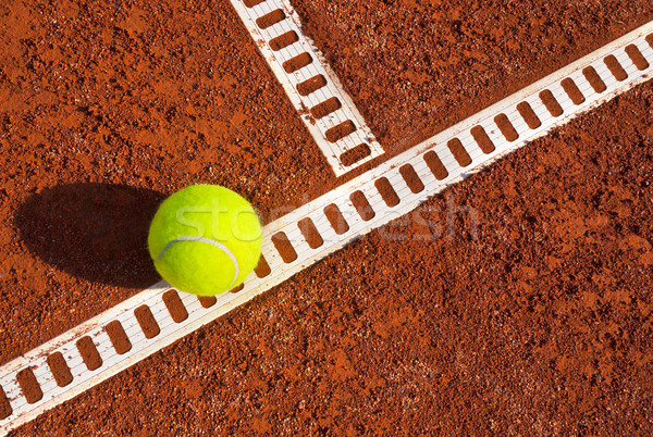 Teniszlabda teniszpálya sport labda Stock fotó © mikdam