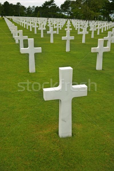 Normandia americano cemitério atravessar guerra Foto stock © mikdam