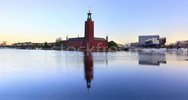 şehir salon Stockholm Stok fotoğraf © mikdam